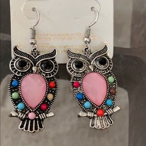 Owl earrings 🍒new